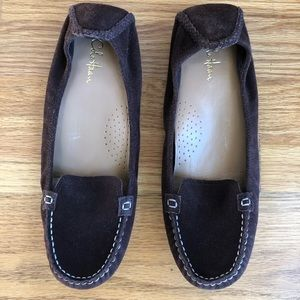 COLE HAAN Brown Suede Driving Loafers Slip-On 8B